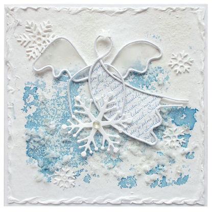 Vánoční přání Anděl s vločkou