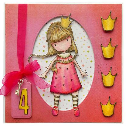 Obrázek Přání k 4. narozeninám Holčička Gorjuss