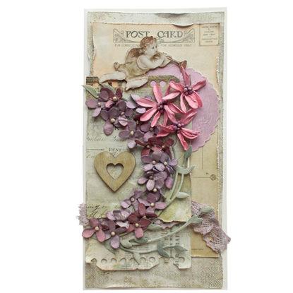 Obrázek Svatební přání Vintage fialové s andělem