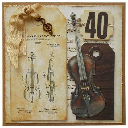 Obrázek Přáníčko k 40. narozeninám Housle