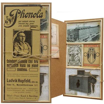 Přání retro koláž Phonola