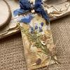 Obrázek Jmenovka na dárek (velká) Modré kvítí 2