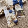 Obrázek Jmenovky na dárky (malé) Modré kvítí 3