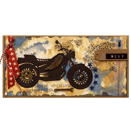 Obrázek Přáníčko do obálky Motorkář