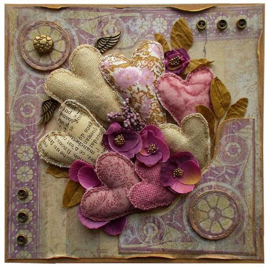 Obrázek Přání do obálky Vintage srdce 2