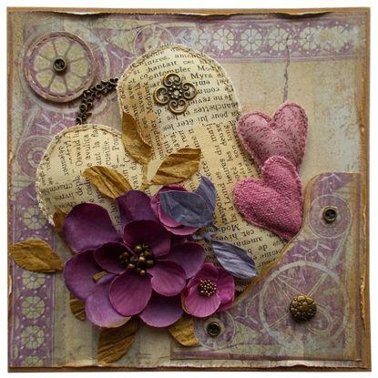 Obrázek Přání do obálky Vintage srdce 3