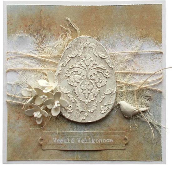 Velikonoční přání Vejce ART 1
