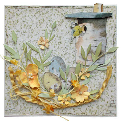 Velikonoční přání Hnízdo s budkou 2