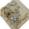 Obrázek Přáníčko do obálky Modré kvĕty s klecí