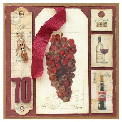 Obrázek Přání k 70. narozeninám Červené víno