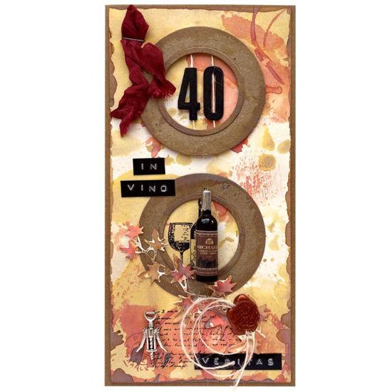 Obrázek Přání k 40. narozeninám Červené víno