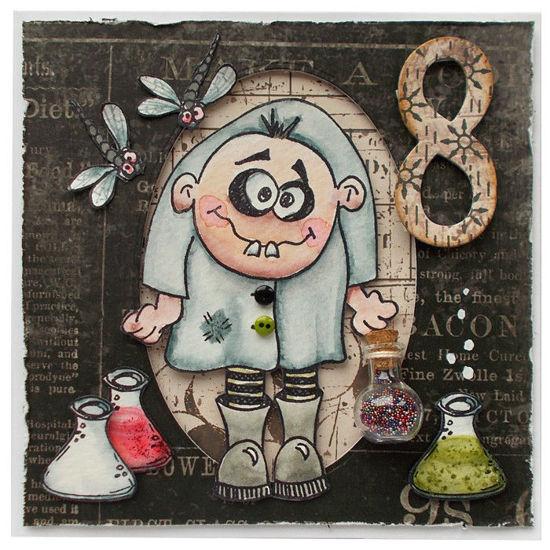 Obrázek Přání k 8. narozeninám Šílený chemik