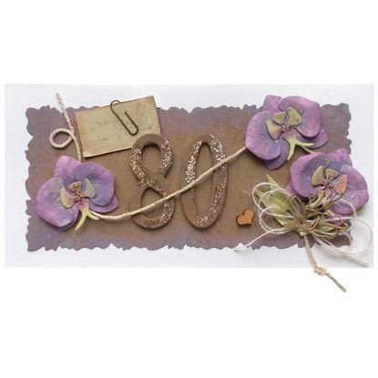 Obrázek Přáníčko k 80. narozeninám Orchidej