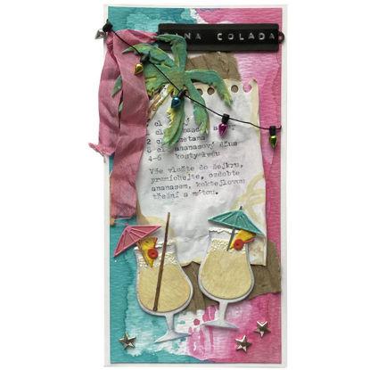 Obrázek Přání do obálky Piña colada