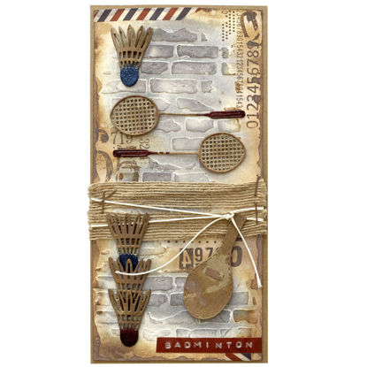 Obrázek Přáníčko do obálky Badminton
