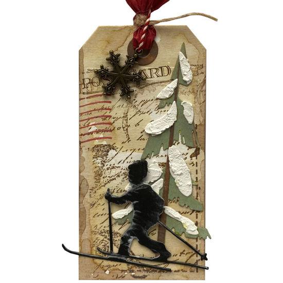Obrázek Jmenovka na dárek (velká) Lyžař 1
