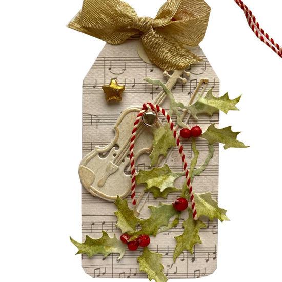 Obrázek Jmenovka na dárek (velká) Vánoční housle