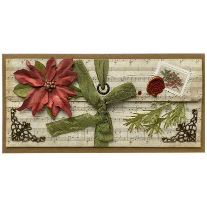Obrázek Vánoční přání na peníze Vánoční růže