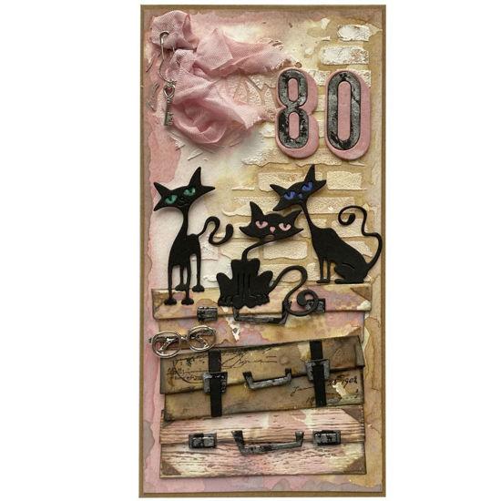 Obrázek Přání k 80. narozeninám Kočičí máma