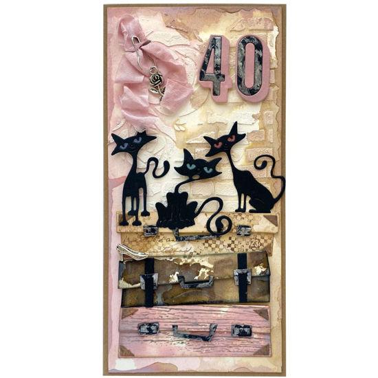 Obrázek Přání k 40. narozeninám Kočičí máma