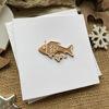 Obrázek Vánoční přání Perníček ryba 2