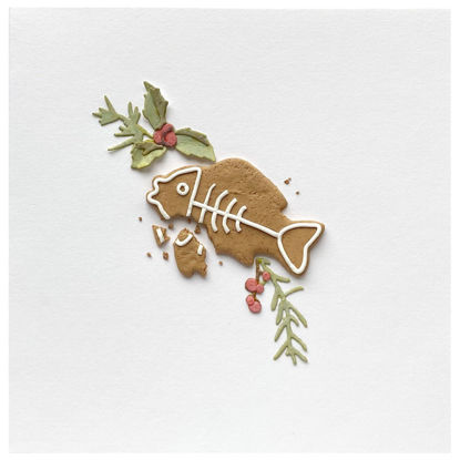 Obrázek Vánoční přání Perníček ryba 7