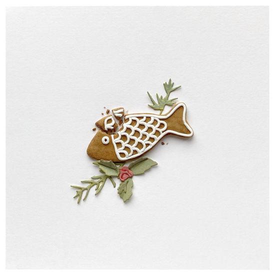 Obrázek Vánoční přání Perníček ryba 8