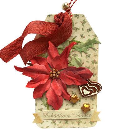 Obrázek Jmenovka na dárek (velká) Vánoční růže 4