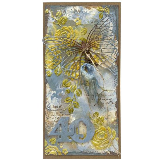 Obrázek Přání k 40. narozeninám S motýlkem