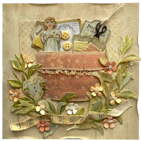 Obrázek Přání do obálky Šití s panenkou