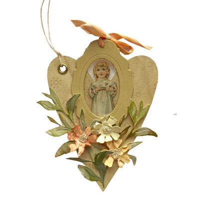 Obrázek Jmenovka na dárek (velká) Srdce s panenkou 1