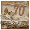 Obrázek Přáníčko k 70. narozeninám Hnědé 2