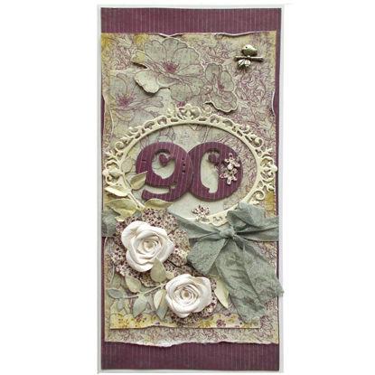 Obrázek Přání k 90. narozeninám Květinové