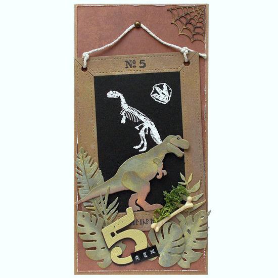 Obrázek Přání k 5. narozeninám Tyrannosaurus rex