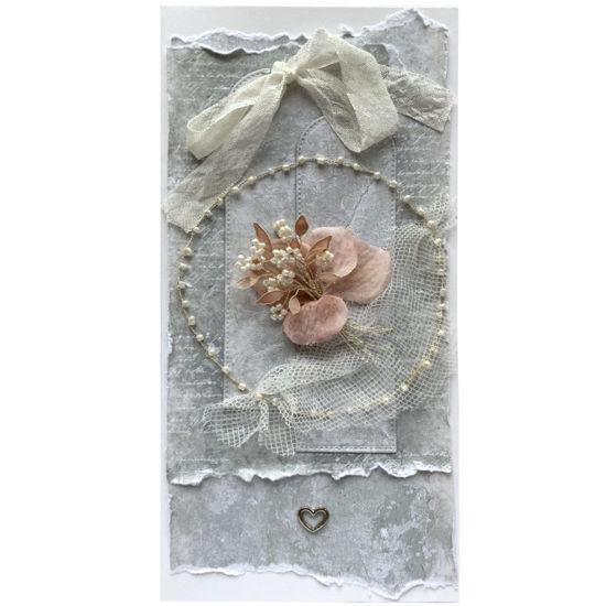 Obrázek Svatební přání Růžová kytička