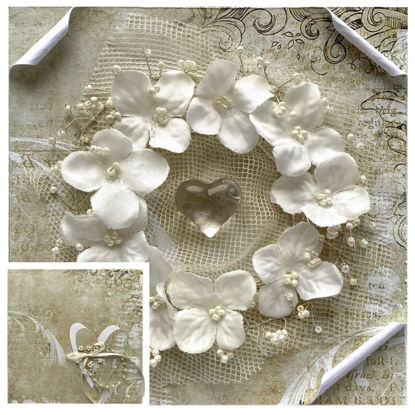 Obrázek Svatební přání na peníze s krabičkou Korálkový věneček