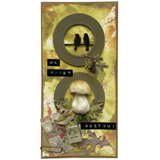 Obrázek Přání do obálky Houbařské