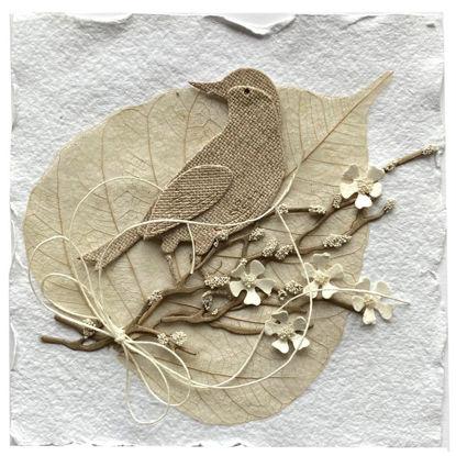 Obrázek Velikonoční přání Ptáček na listu