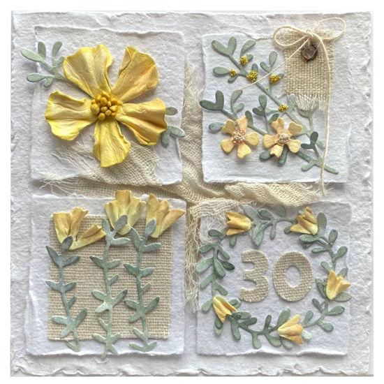 Obrázek Přání k 30. narozeninám Koláž květů