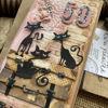 Přáníčko ve starorůžových barvách pro milovnice kočiček