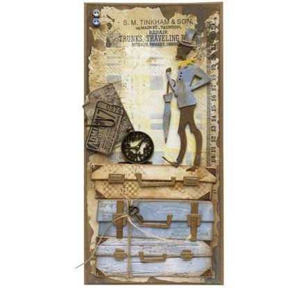 Obrázek Přání do obálky Pán s kufry