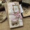 Roztomilé vintage přáníčko k narození holčičky v něžné růžové barvě