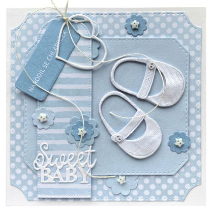 Obrázek Přání k narození miminka Botičky pro chlapečka
