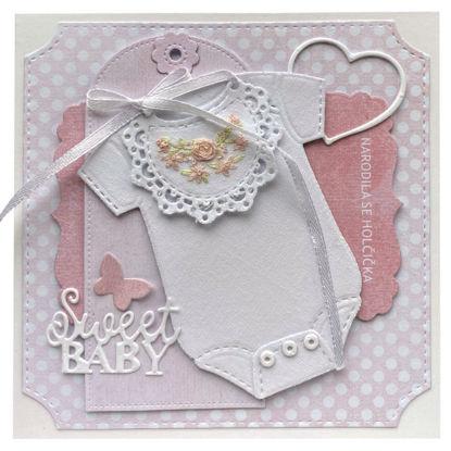 Obrázek Přání k narození miminka Narodila se holčička