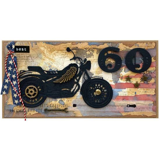 Obrázek Přání k 60. narozeninám Motorkář