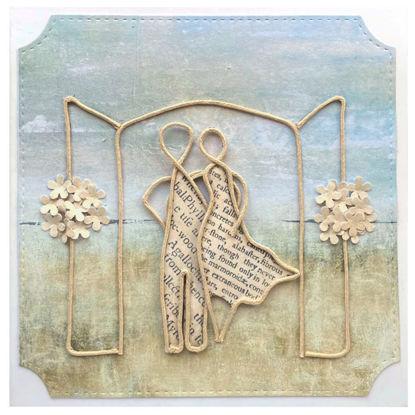 Obrázek Svatební přání z provázků - Brána do života 2