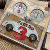 Obrázek Přání k 3. narozeninám Auto na klíček