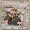 Obrázek Přání k 1. narozeninám Teddy bears 3