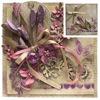 Obrázek Přání na peníze s krabičkou Fialové květiny