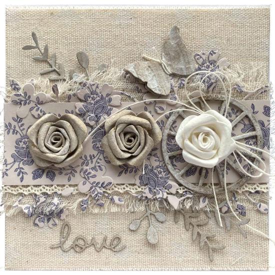 Obrázek Svatební přání Country, modrotisk